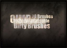 Dirty Brushes GIMP by FrostBo