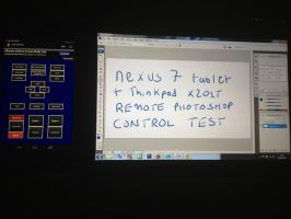 Photoshop CS3 Remote - Nexus 7 + Thinkpad X201T by Fragsey