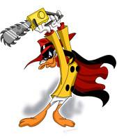 NegaDuck with a Chainsaw by KimmyArtMLP