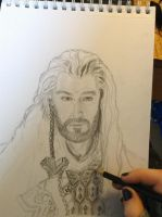 Thorin Oakenshield WIP by Ithiliel-o-Gondolin