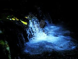 blue waterfall by English-Rose08