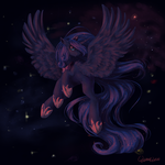 Luna in space by QuennyQueen