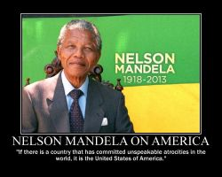 Nelson Mandela on America by fiskefyren