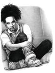 Robert Smith, The Cure - Pencil by TowersOfLondon