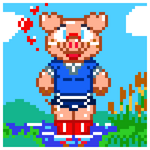 Pixellated Pig by Machu