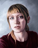 Self portrait - digital painting by DreamsOfSilence
