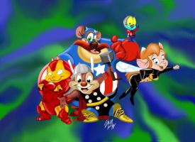 Rescue Rangers as The Avengers by amydrewthat