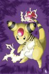 Ampharos using Charge Beam by werepenguin