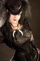 Gothic steampunk dancer corset by RobynGoodfellow