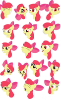 Pony Sketches: Apple Bloom by RandomDash