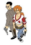 Doyle and Abby color by Yardley