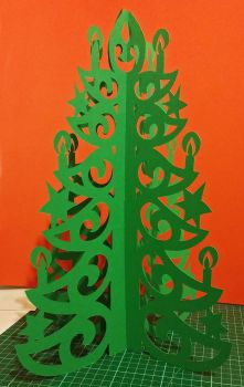 Christmas tree papercut by Alessandro-Ole