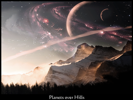 Planets over Hills by angelo0224