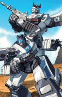 Prowl and Jazz by Dan-the-artguy