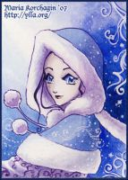 ACEO 8 : Winter by maria-jaujou