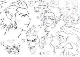 LionO's faces sketch by valkyriensz