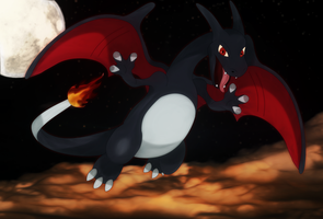 Shiny Charizard. by Elsdrake