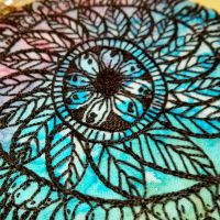 Close Up from Embroidered Mandala by Craftypodes