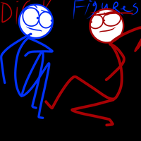 Dick Figures Red And Blue by Demonic-stickfigures