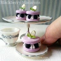 Blackberry Macarons by Snowfern