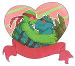 Valentines card - Slash and Raph by Blackdragon-sama