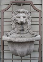 Lion Head Fountain by GreenEyezz-stock