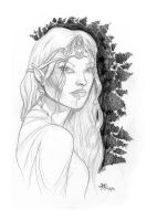 Weekly sketch - Galadriel by AndyIomoon