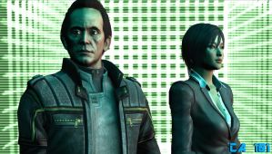 Mr.Weyland and Mrs.Yutani by ChrisAstro101