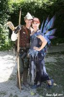 A woodsman and the fairy by glittrrgrrl