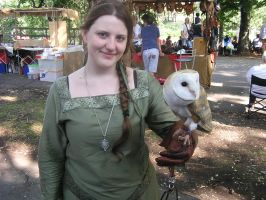 Lady and the owl by MetalLara