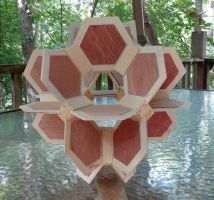 Crown Cuboctahedron - 2014 (wood) by albertpcarpenter