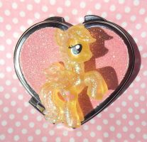 Super Sparkly Fluttershy MLP heart mirror by KawaiiMoon24