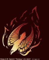 Fire bird tattoo color by Windshade888