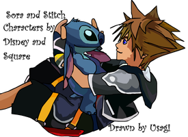 Sora and Stitch by Usagi-Zakura