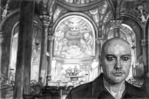 Peter Furler - 4 x 6 Sketch by khinson