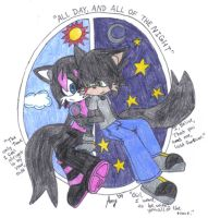 All Day, and all of the Night by Patch-ninja-wolf