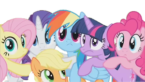 mlp  (maybe in a little early for a group hug) by phillsh100