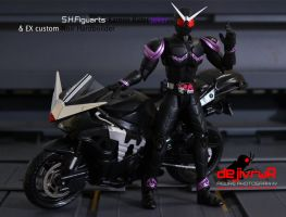 kamen rider joker with EX noir by dejivrur