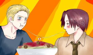 APH: Lady and the Tramp by supermellowoman