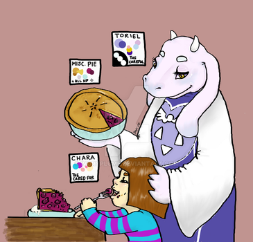 The Careful and the Cared For - Toriel and Chara - by SeaglassEnvelope