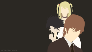 K, L, M (Death Note) Minimalist Wallpaper by Sephiroth508
