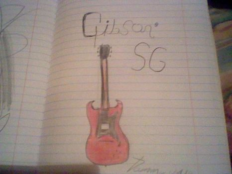 My Gibson SG drawing by tommywalk14