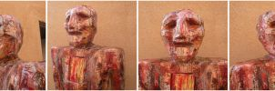 Red Painted Man, 4 angles on the head by Art-of-Eric-Wayne