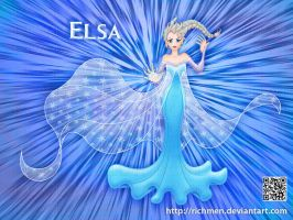 Elsa Frozen Disney by Richmen