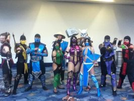 Mortal Kombat at wondercon 2012 by Kayobreaker
