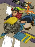 Jak and daxter from Jak II by DaemonStalley