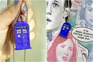 Tardis necklace by MiceNappi