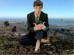 giant logan lerman barefoot by jokse345
