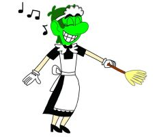 The Green Thunder Disguised As A Maid by PuccadomiNyo