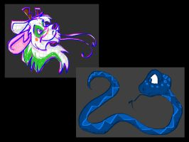 Paint Komico and a Snake by KM-cowgirl